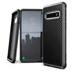 Чехол X-doria Defense Lux для Samsung Galaxy S10 (Black Carbon, маталлический)
