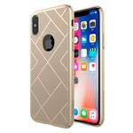 Чехол Nillkin Air case для Apple iPhone X (золотистый, пластиковый)