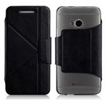 Чехол Momax The Core Smart Case для HTC One 801e (HTC M7) (черный, кожанный)