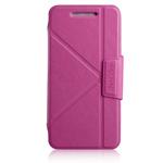 Чехол Momax The Core Smart Case для HTC One 801e (HTC M7) (розовый, кожанный)