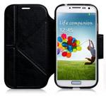 Чехол Momax The Core Smart Case для Samsung Galaxy S4 i9500 (черный, кожанный)