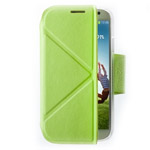 Чехол Momax The Core Smart Case для Samsung Galaxy S4 i9500 (зеленый, кожанный)