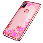 Чехол Yotrix CrystalCase для Xiaomi Mi Max 3 (розово-золотистый, гелевый)