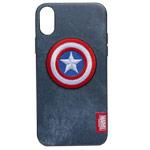 Чехол Marvel Avengers Leather case для Apple iPhone XR (Captain America, матерчатый)