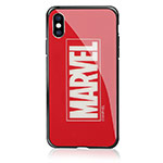 Чехол Marvel Avengers Hard 3D case для Apple iPhone XS (Marvel, стеклянный)