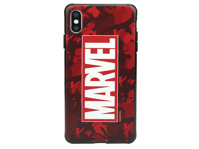 Чехол Marvel Avengers Hard case для Apple iPhone XS (Marvel Red, пластиковый)
