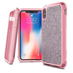 Чехол X-doria Defense Lux для Apple iPhone XS (Crystal Pink, маталлический)