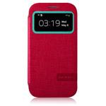 Чехол Momax Flip View для Samsung Galaxy S4 i9500 (красный, кожанный)