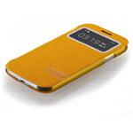 Чехол Momax Flip View для Samsung Galaxy S4 i9500 (желтый, кожанный)