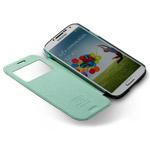 Чехол Momax Flip View для Samsung Galaxy S4 i9500 (голубой, кожанный)