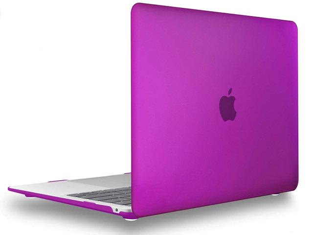 Чехол Yotrix HardCover для Apple MacBook Air 13 2018 (фиолетовый, матовый, пластиковый)