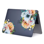 Чехол Yotrix HardCover для Apple MacBook Air 13 2018 (Flowers on Dark, пластиковый)