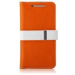 Чехол Momax Flip Diary Case для HTC One 801e (HTC M7) (оранжевый, кожанный)
