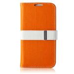 Чехол Momax Flip Diary Case для Samsung Galaxy S4 i9500 (оранжевый, кожанный)