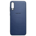Чехол Yotrix CarbonCase для Samsung Galaxy A70 (синий, гелевый)