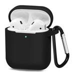 Чехол Synapse Buckle Case для Apple AirPods (черный, силиконовый)