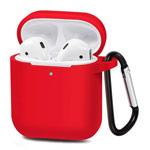 Чехол Synapse Buckle Case для Apple AirPods (красный, силиконовый)