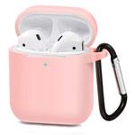 Чехол Synapse Buckle Case для Apple AirPods (светло-розовый, силиконовый)
