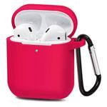 Чехол Synapse Buckle Case для Apple AirPods (ярко-розовый, силиконовый)