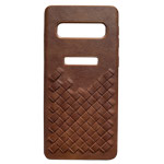 Чехол Yotrix TwistCase для Samsung Galaxy S10 plus (коричневый, кожаный)