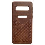 Чехол Yotrix TwistCase для Samsung Galaxy S10 (коричневый, кожаный)