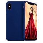 Чехол Yotrix LiquidSilicone для Apple iPhone XS (темно-синий, гелевый)