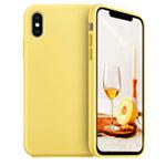 Чехол Yotrix LiquidSilicone для Apple iPhone XS (желтый, гелевый)