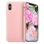 Чехол Yotrix LiquidSilicone для Apple iPhone XS max (светло-розовый, гелевый)