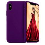 Чехол Yotrix LiquidSilicone для Apple iPhone XS max (фиолетовый, гелевый)