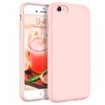 Чехол Yotrix LiquidSilicone для Apple iPhone 6S (светло-розовый, гелевый)