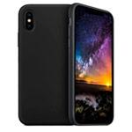 Чехол Yotrix LiquidSilicone для Apple iPhone XS (черный, гелевый)