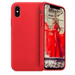 Чехол Yotrix LiquidSilicone для Apple iPhone XS (красный, гелевый)