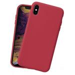Чехол Yotrix LiquidSilicone для Apple iPhone XS (темно-красный, гелевый)