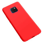 Чехол Yotrix LiquidSilicone для Huawei Mate 20 pro (красный, гелевый)