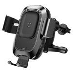 Беспроводное зарядное устройство Baseus Car Airvent Wireless Charger (черное, автомобильное, автозахват, Fast Charge, QI)