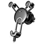 Автомобильный держатель Baseus Yy Vehicle Phone Holder универсальный (черный, на диффузор, Lightning-кабель)