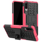 Чехол Yotrix Shockproof case для Samsung Galaxy A70 (розовый, пластиковый)
