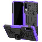 Чехол Yotrix Shockproof case для Samsung Galaxy A70 (фиолетовый, пластиковый)