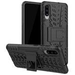 Чехол Yotrix Shockproof case для Samsung Galaxy A70 (черный, пластиковый)