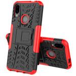 Чехол Yotrix Shockproof case для Xiaomi Redmi Note 7 (красный, пластиковый)