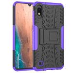 Чехол Yotrix Shockproof case для Samsung Galaxy A10 (фиолетовый, пластиковый)