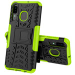 Чехол Yotrix Shockproof case для Samsung Galaxy A20 (зеленый, пластиковый)