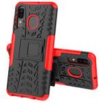 Чехол Yotrix Shockproof case для Samsung Galaxy A20 (красный, пластиковый)