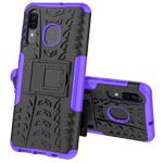 Чехол Yotrix Shockproof case для Samsung Galaxy A20 (фиолетовый, пластиковый)