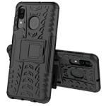 Чехол Yotrix Shockproof case для Samsung Galaxy A20 (черный, пластиковый)