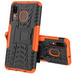 Чехол Yotrix Shockproof case для Samsung Galaxy A40 (оранжевый, пластиковый)