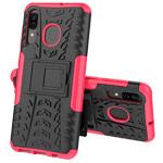 Чехол Yotrix Shockproof case для Samsung Galaxy A40 (розовый, пластиковый)