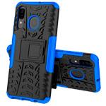 Чехол Yotrix Shockproof case для Samsung Galaxy A40 (синий, пластиковый)