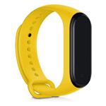 Ремешок для браслета Xiaomi Mi Band 3/4 (желтый, силиконовый)