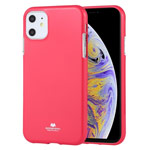 Чехол Mercury Goospery Jelly Case для Apple iPhone 11 (малиновый, гелевый)